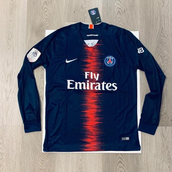 timeless design 5fb5a cc386 Neymar Jr #10 long sleeve soccer jersey PSG home NWT